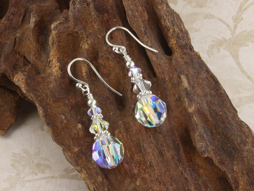 Shimmering Crystal Beaded Earrings