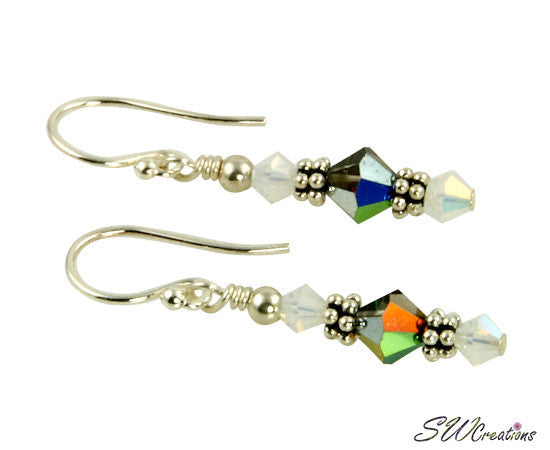 Opal Vitrail Beaded Crystal Earrings - SWCreations