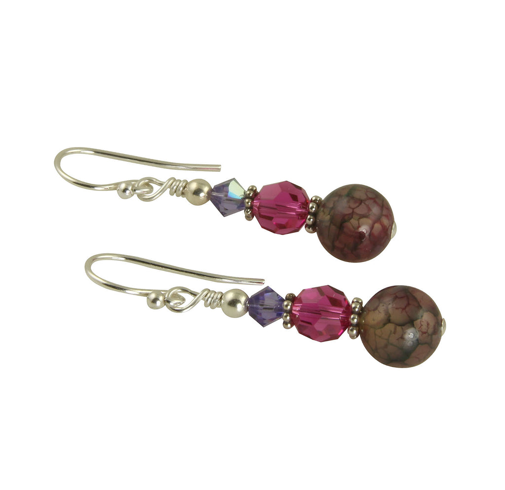 Fuchsia Tanzanite Gemstone Earrings