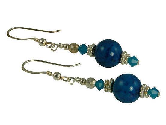 Capri Blue Gemstone Beaded Earrings - SWCreations