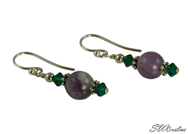 Emerald Green Fluorite Gemstone Earrings - SWCreations