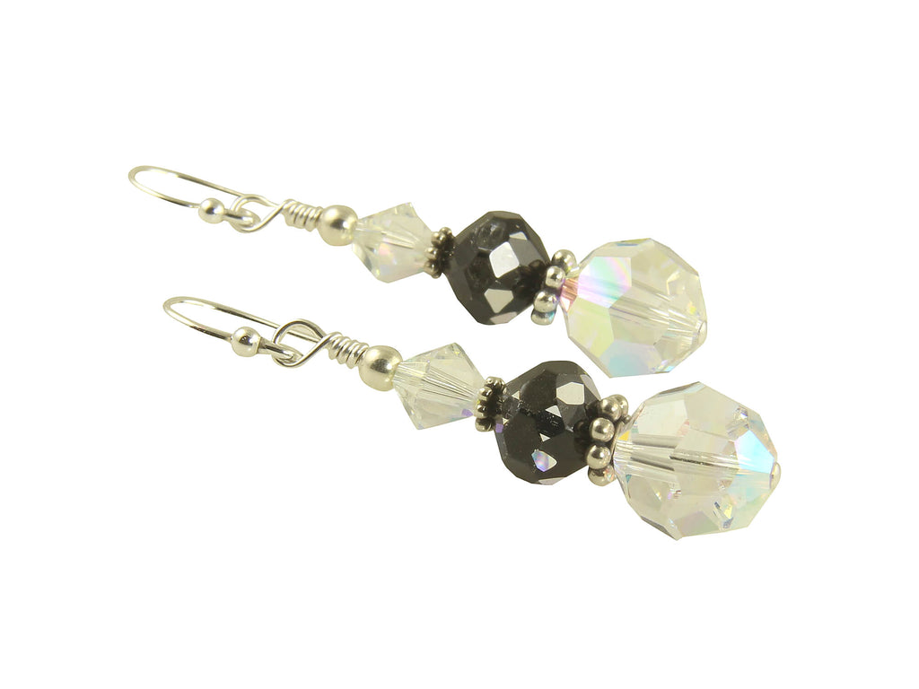 Cosmic Crystal Drop Beaded Earrings