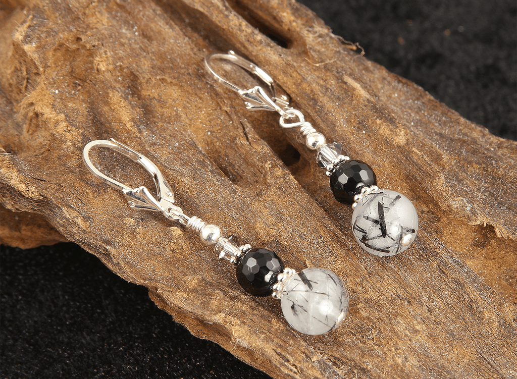 Fancy Quartz Gemstone Beaded Earrings