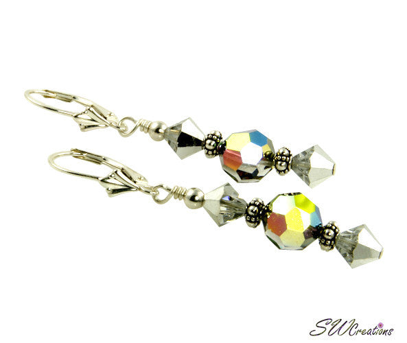 Vitrial Silver Bali Crystal Earrings - SWCreations