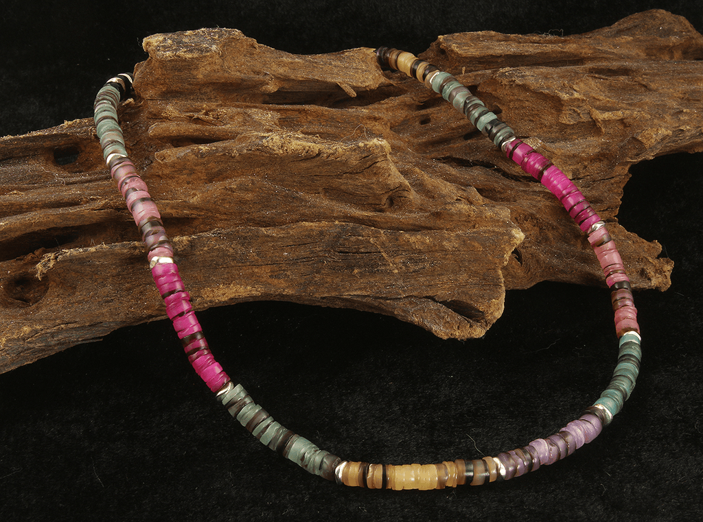 Colorful Shell Beaded Choker Necklace