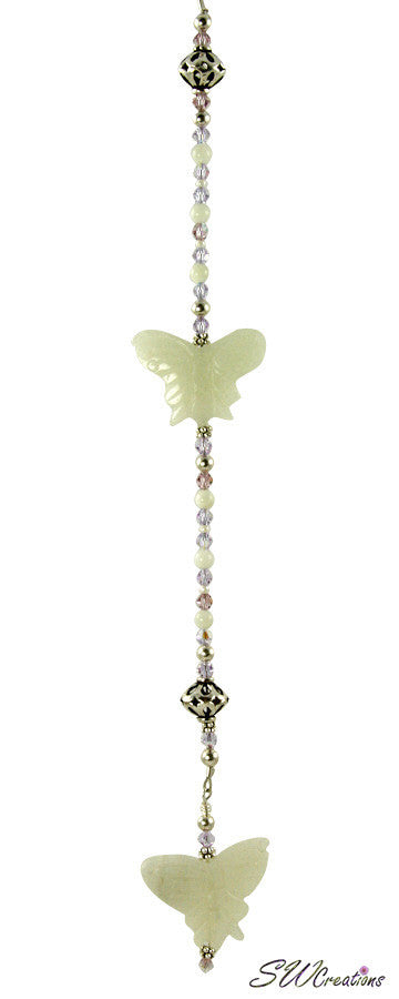 Jade Lilac Butterfly Crystal Creations Fan Pull - SWCreations  - 2