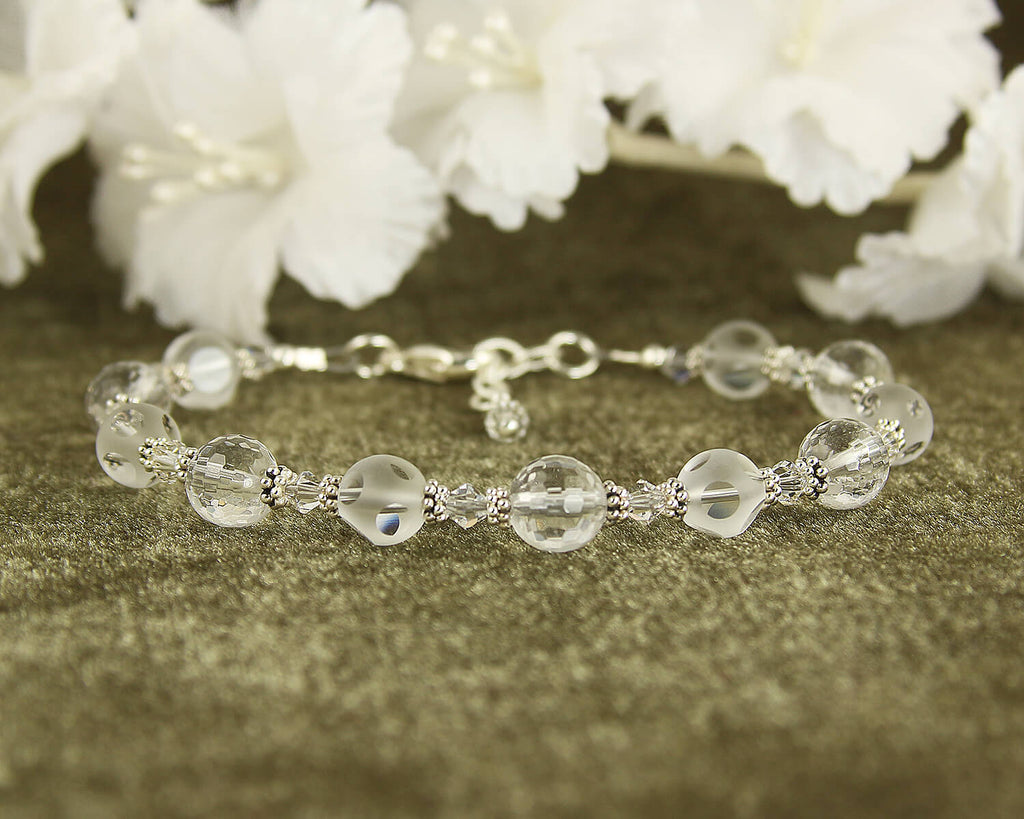 Quartz Gemstone Crystal Beaded Bracelet