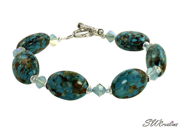 Mosaic Blue Turquiose Crystal Beaded Bracelets - SWCreations