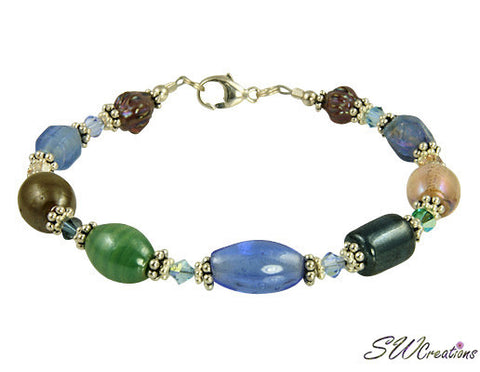 Multicolored Crystal Glass Beaded Bracelets - SWCreations