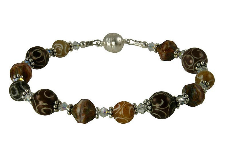Carved Jade Gemstone Crystal Bead Bracelet - SWCreations
