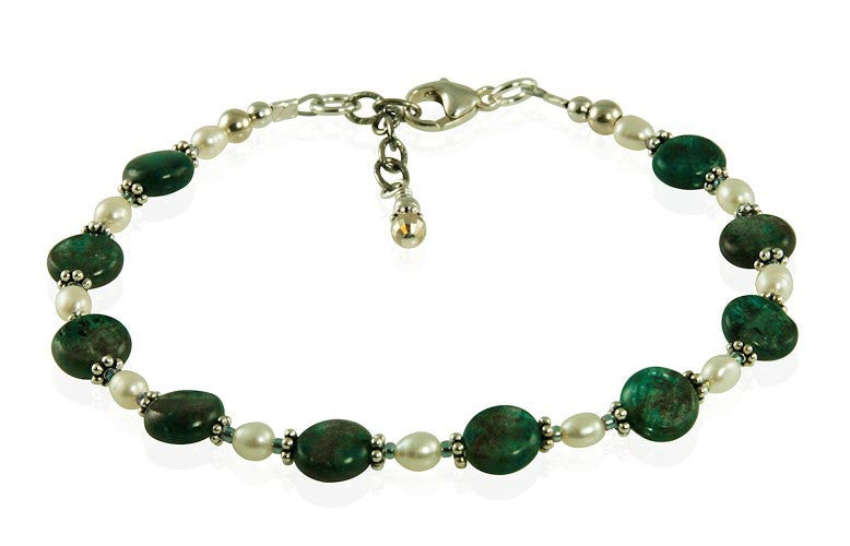 Teal Green Labradorite Gemstone Bracelet - SWCreations  - 2