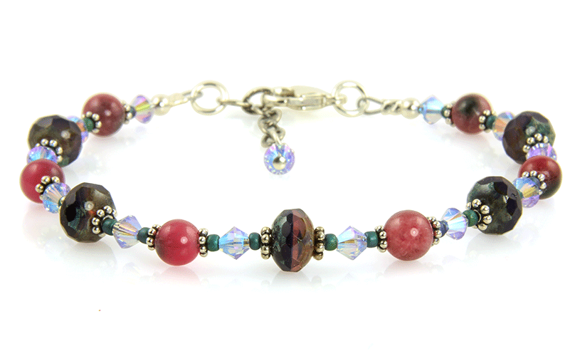 Cherry Jade Gemstone Crystal Bracelet - SWCreations