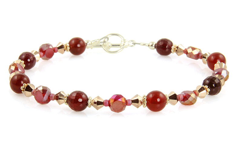 Golden Red Jade Gemstone Bracelet - SWCreations