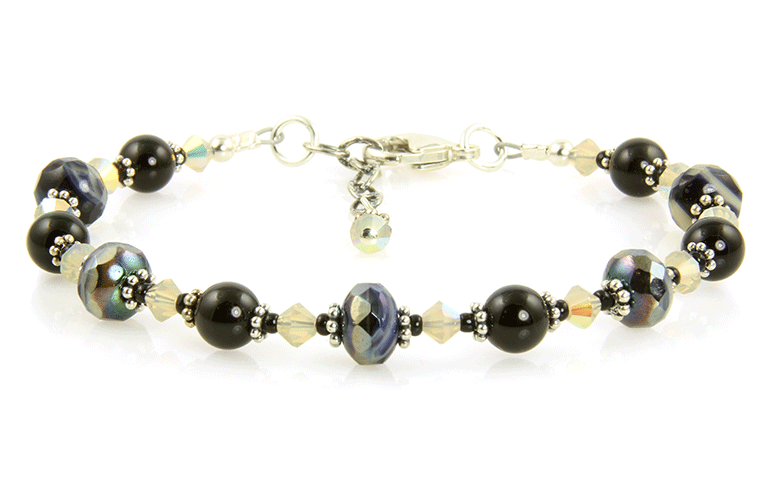 Black Sand Opal Crystal Bracelet - SWCreations