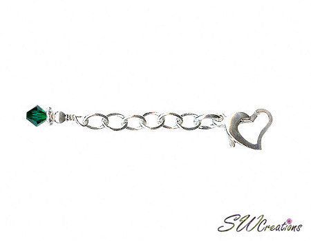 Heart of Gem Crystal Anklet Jewelry Extender - SWCreations  - 3