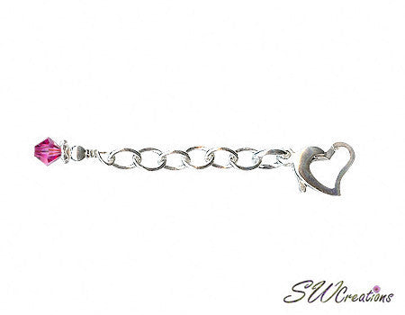 Heart of Gem Crystal Anklet Jewelry Extender - SWCreations  - 4