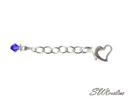 Heart of Gem Crystal Anklet Jewelry Extender - SWCreations  - 1
