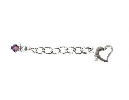 purple jewelry extender