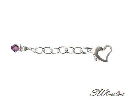 Heart of Gem Crystal Anklet Jewelry Extender - SWCreations  - 2