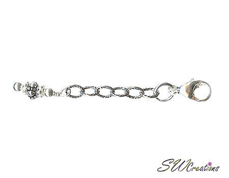 Silvery Cloud Bali Bracelet Jewelry Extender - SWCreations