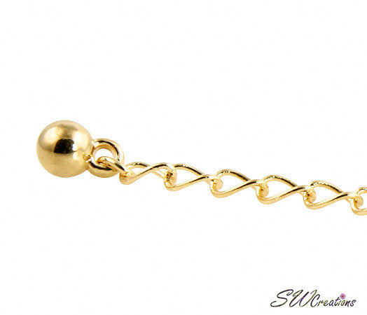 Allusive Gold Plated Necklace Jewelry Extender - SWCreations  - 1