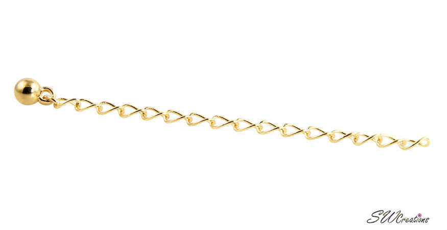 Allusive Gold Plated Necklace Jewelry Extender - SWCreations  - 2