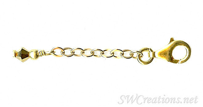 Golden Heart Breaker Crystal Anklet Extender - SWCreations