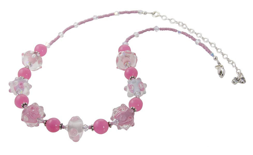 Pretty in Pink Lampwork Jewelry Set - SWCreations  - 2