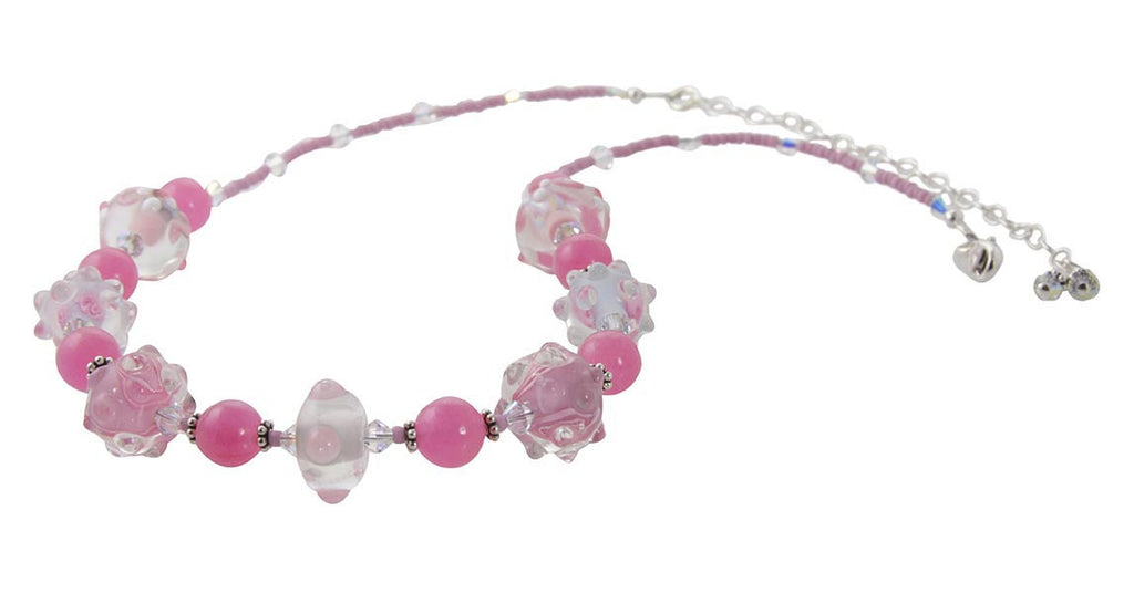 Pretty in Pink Lampwork Jewelry Set - SWCreations  - 3