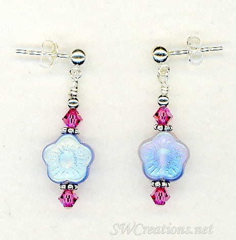 Floral Enchantment Crystal Earrings - SWCreations
