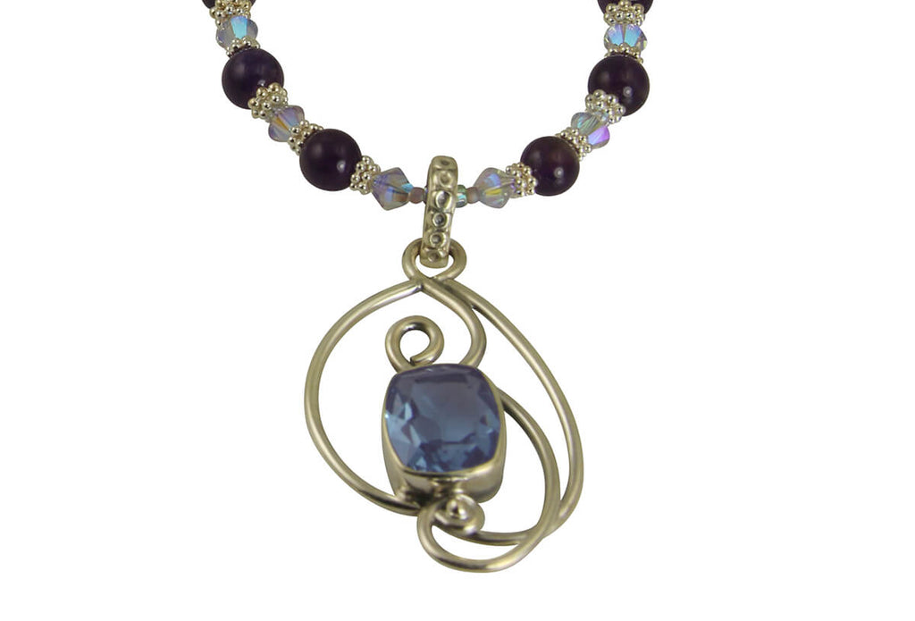 Elegant Alexandrite Gemstone Pearl Necklace