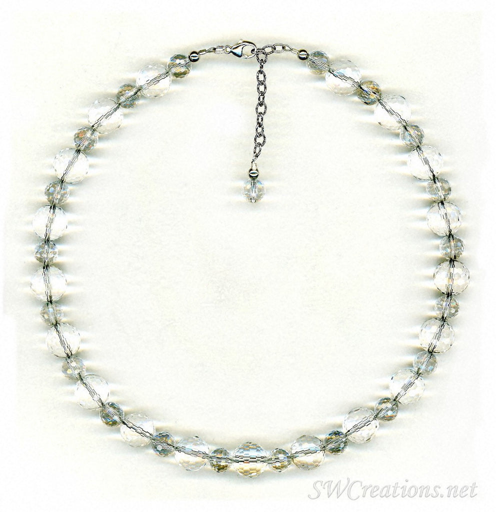 Elegant Rock Crystal Beaded Necklace - SWCreations