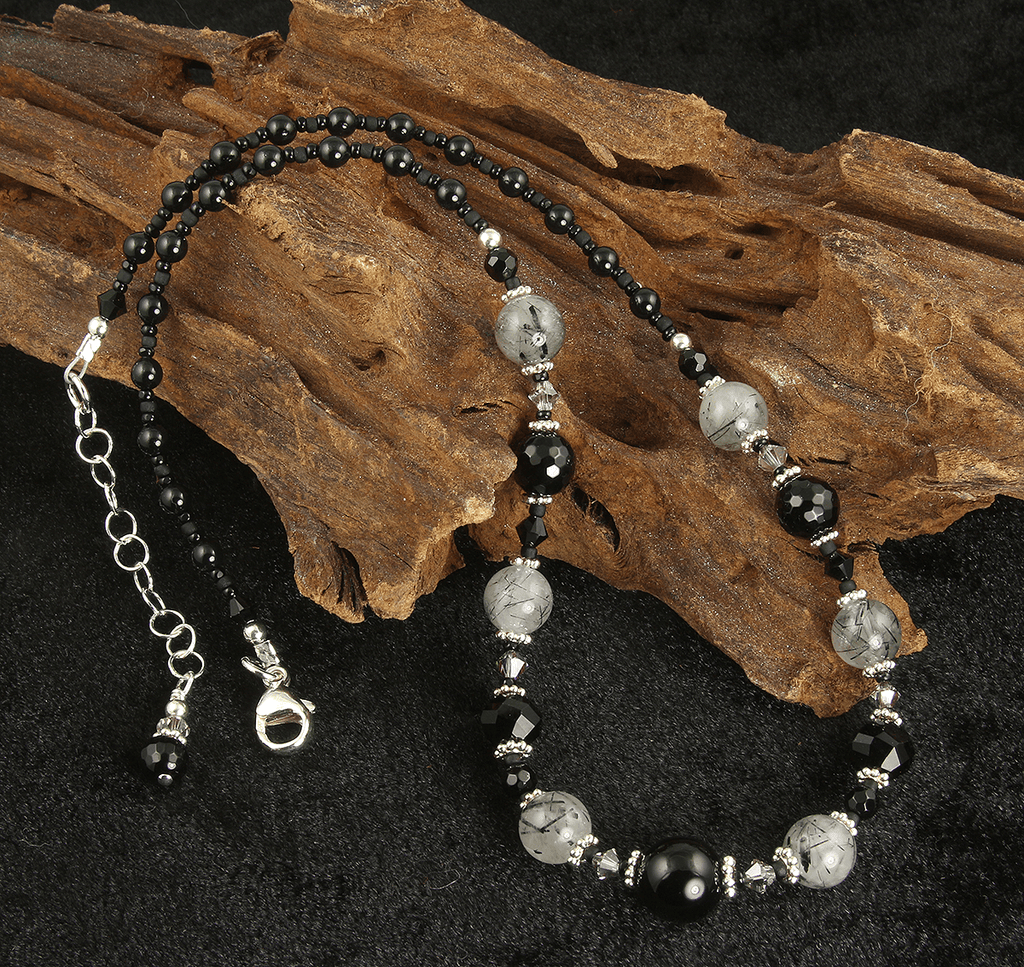 Black Onyx Quartz Gemstone Necklace