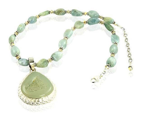 Cheremai Green Gemstone Crystal Beaded Necklace - SWCreations