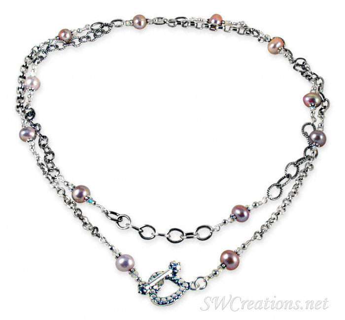 Chain of Circumstance Pearl Twist Necklace - SWCreations
