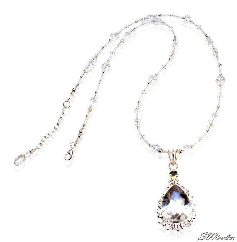 Crystalline Rock Crystal Gemstone Necklace - SWCreations  - 1