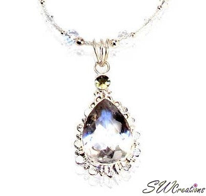Crystalline Rock Crystal Gemstone Necklace - SWCreations  - 2