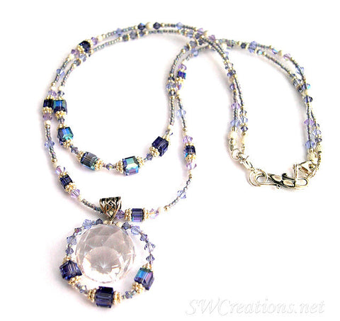Alluring Tanzanite Crystal Prism Necklace - SWCreations