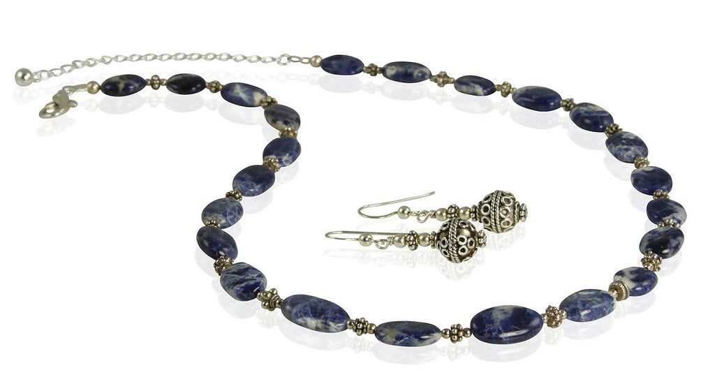 Lapis Lazuli Gemstone Necklace Set - SWCreations  - 1