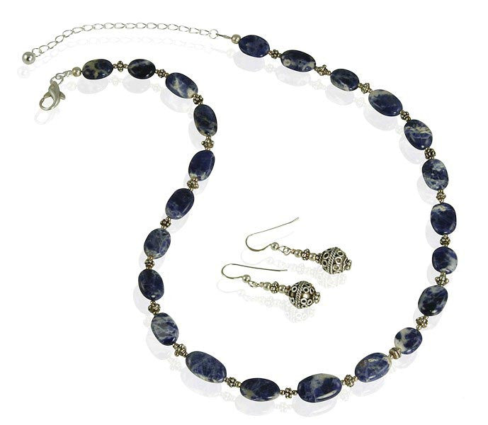 Lapis Lazuli Gemstone Necklace Set - SWCreations  - 2