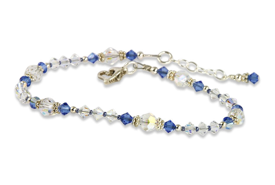 Shimmering - Something Blue Sapphire Wedding Anklet - SWCreations  - 1