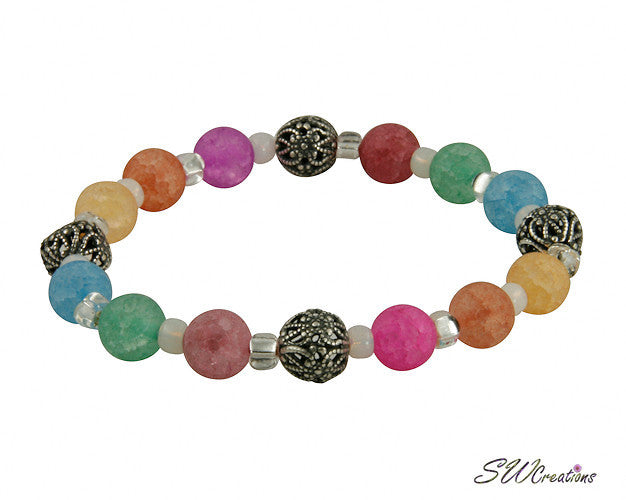 Colorful Crackle Quartz Stretch Bracelets - SWCreations  - 2