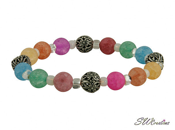 Colorful Crackle Quartz Stretch Bracelets - SWCreations  - 1