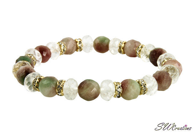 Fancy Jade Quartz Gemstone Stretch Beaded Bracelets - SWCreations