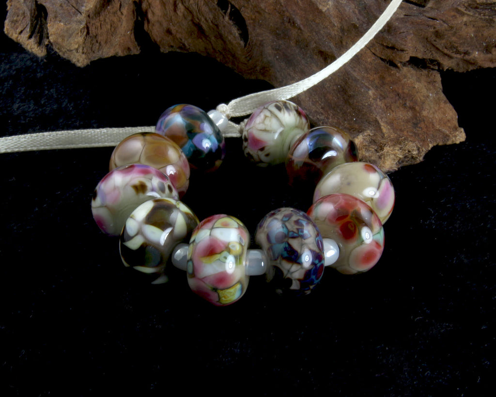 Multicolor Orphans Lampwork Beads Set SRA