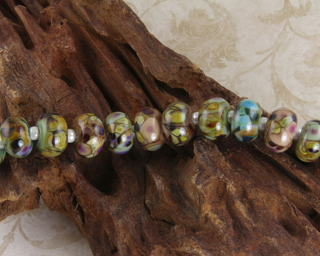 13  Neutral Orphan Lampwork Beads Set SRA