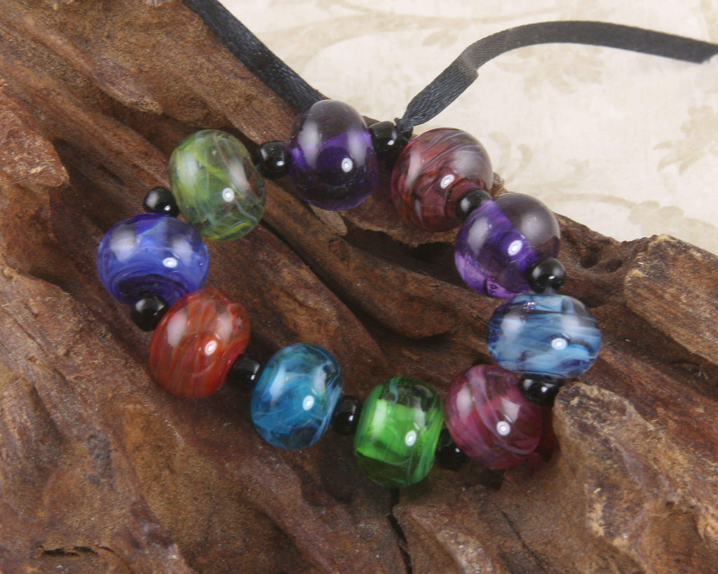 Multicolor Mini Lampwork Beads Set SRA