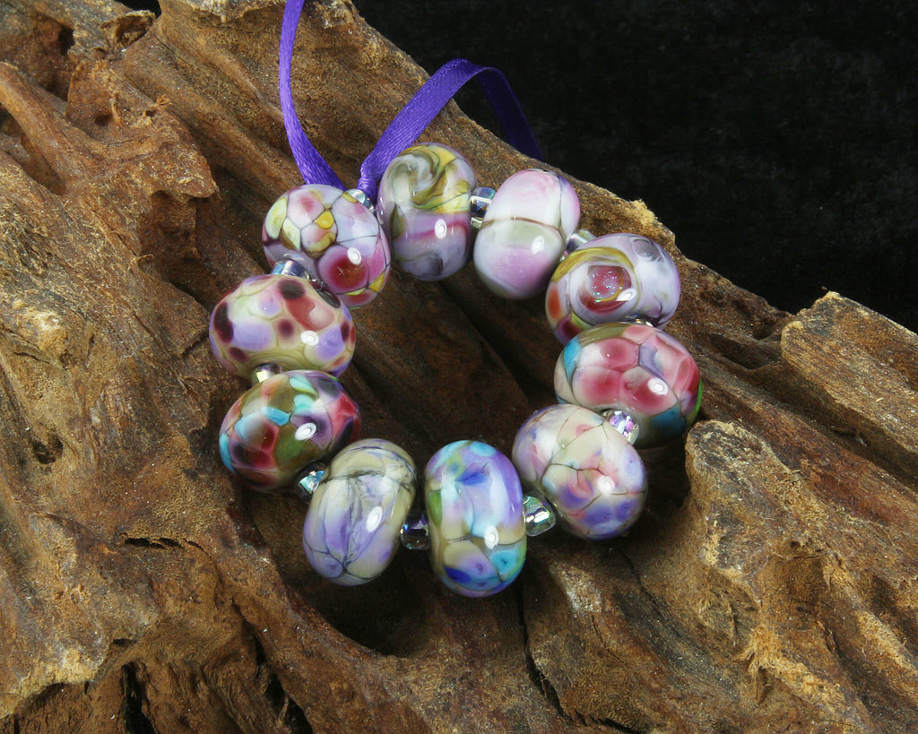 Mosaic Mix Lampwork Beads Set SRA