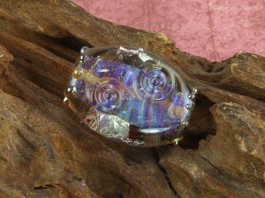 Purple Shimmer Lampwork Focal Bead SRA