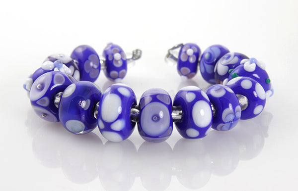 Cobalt Blue Lampwork Beads SRA - SWCreations